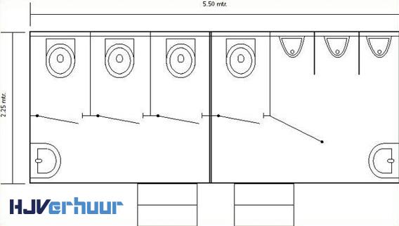 Layout toiletwagen