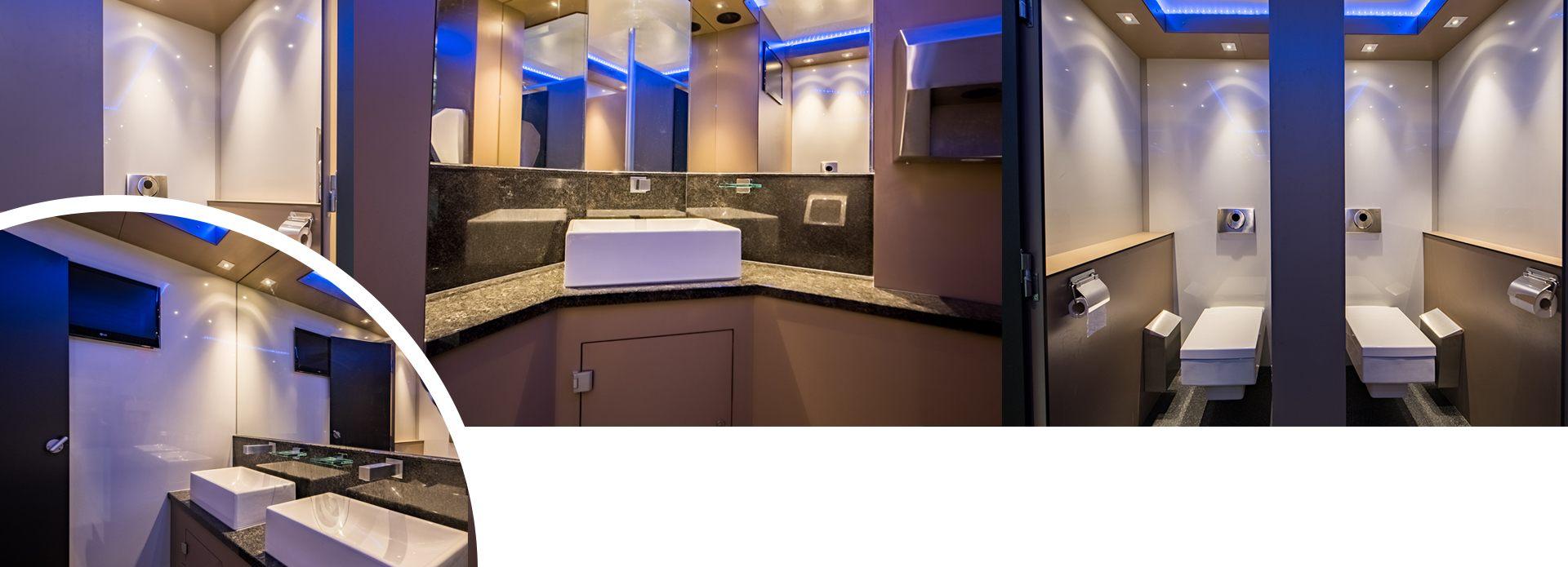 Luxe toiletwagen huren binnenkant
